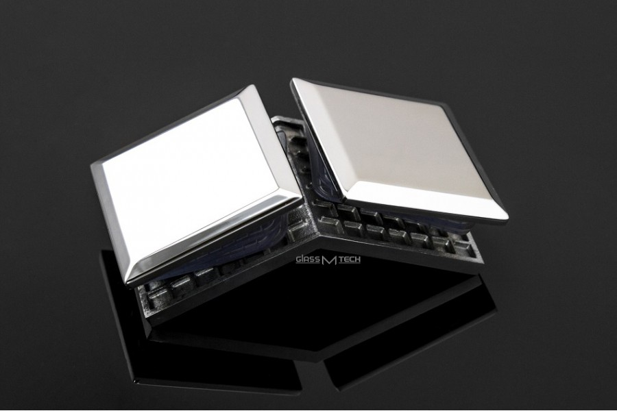 Соединитель EK-454  с фаской, стекло/стекло, 90°