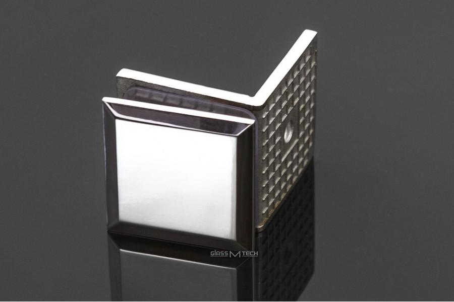 Соединитель G251 с фаской, стена/стекло, 90°