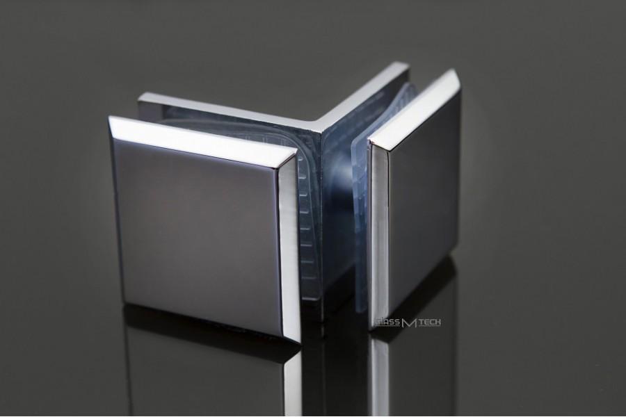 Соединитель G252 с фаской, стена/стекло, 90°