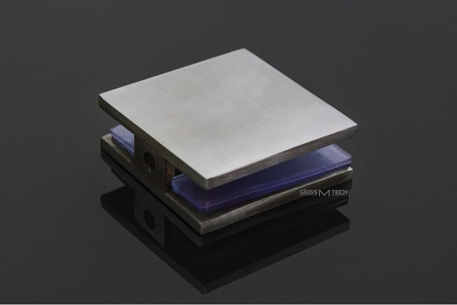 Соединитель G271s без фаски, стена/стекло, 90°, Satin