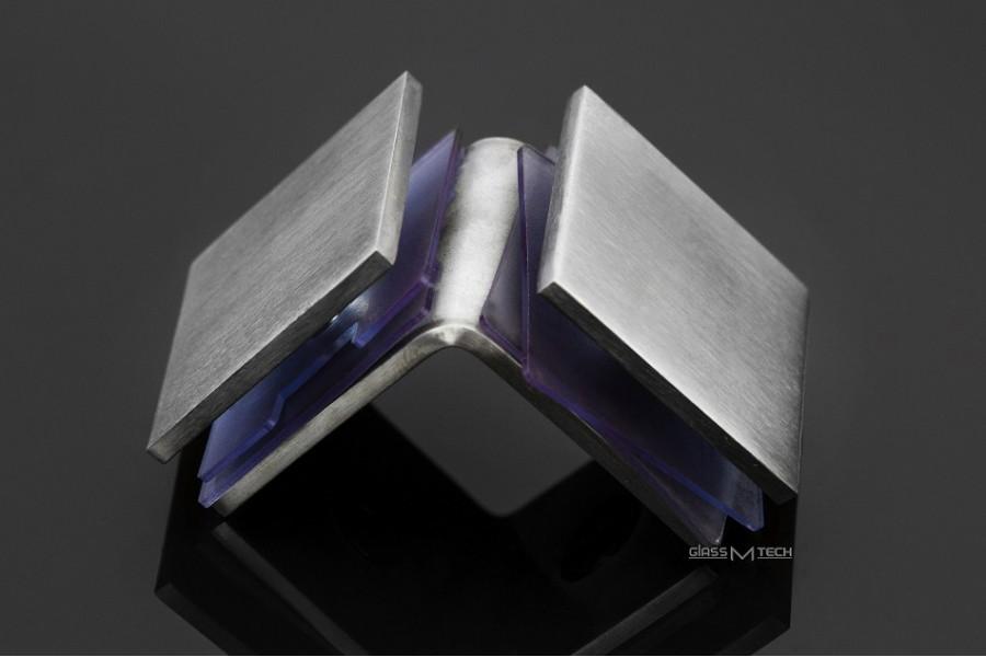 Соединитель G273 без фаски, стекло/стекло, 90°, Satin