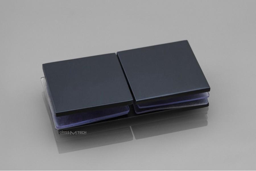 Соединитель G275 без фаски, стекло/стекло, 180°, Black