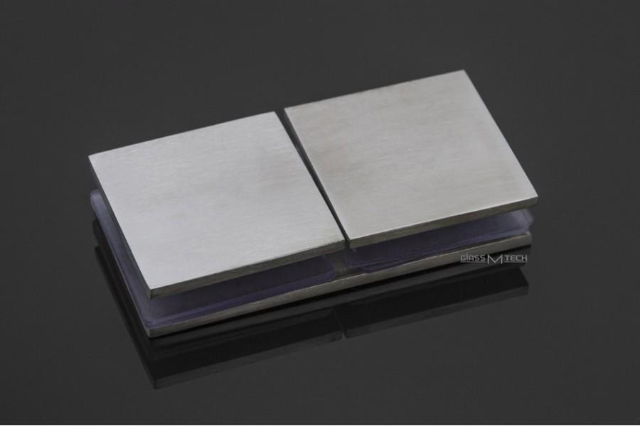 Соединитель G275 без фаски, стекло/стекло, 180°, Satin