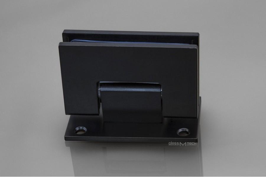 Петля G110A без фаски, стена/стекло, 90°, Black
