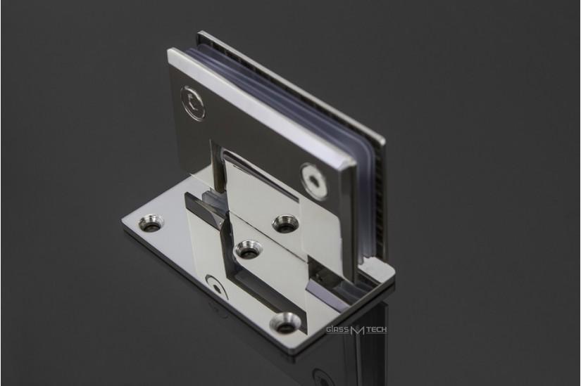 Петля G114А с фаской, стена/стекло, 90°