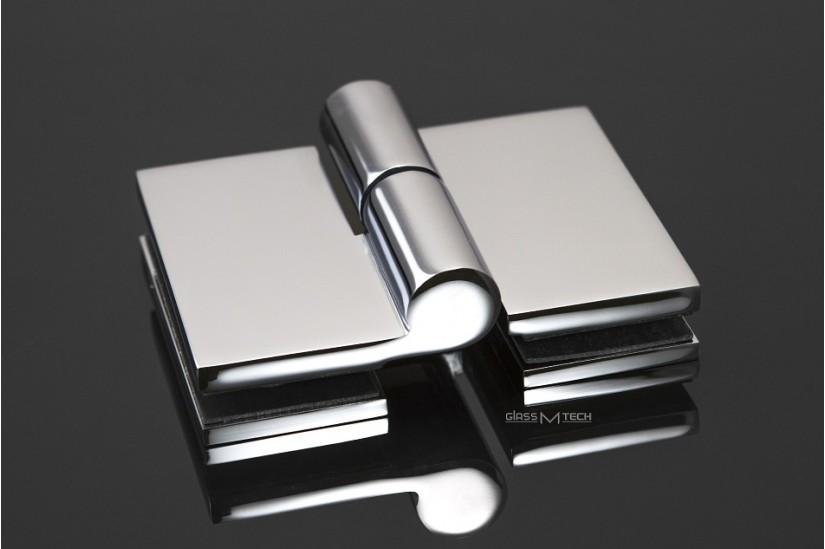 Петля КН-104/L, левая, стекло/стекло, с подъемным механизмом, 180°
