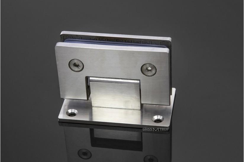 Петля G110A без фаски, стена/стекло, 90°, Satin
