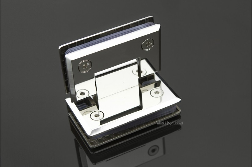 Петля G113А с фаской, стекло/стекло, 90°