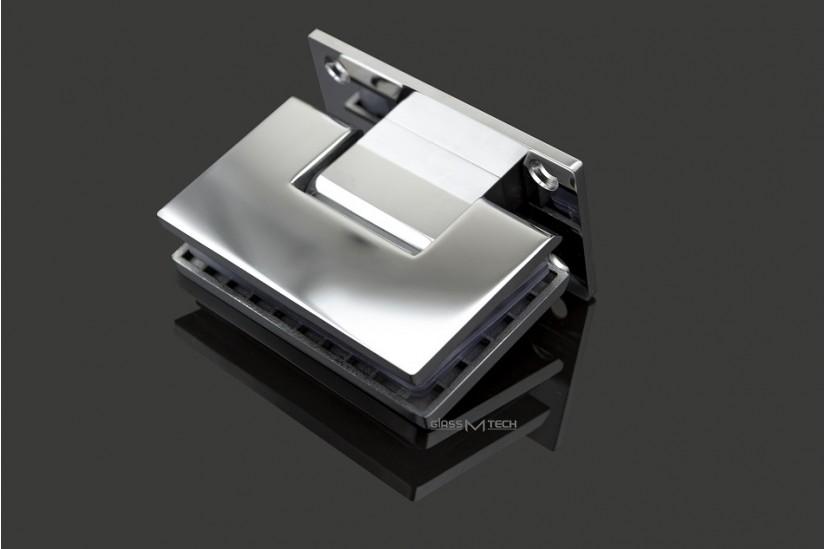 Петля  G110А без фаски, стена/стекло, 90°