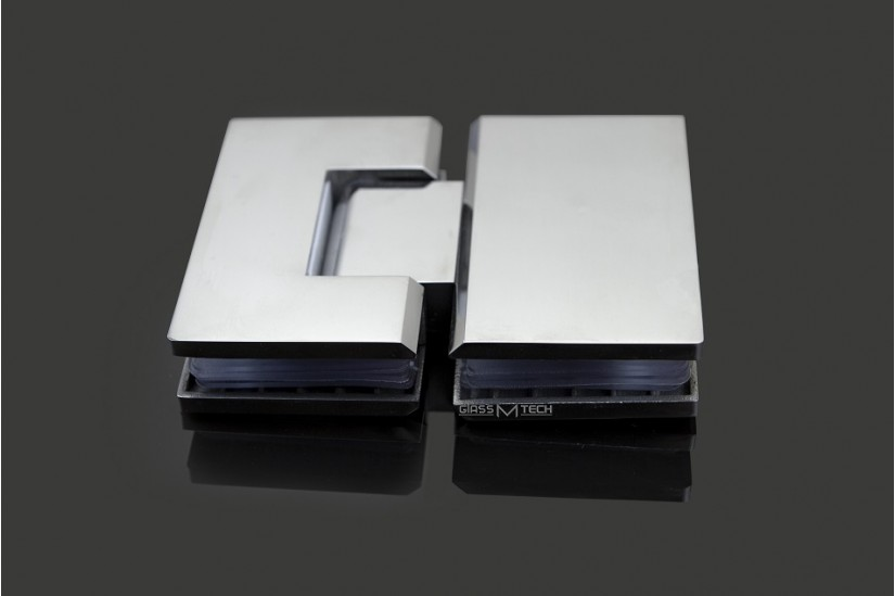 Петля G111А без фаски, стекло/стекло, 180°