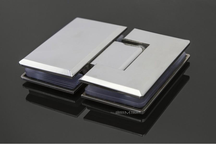 Петля G111А с фаской, стекло/стекло, 180°