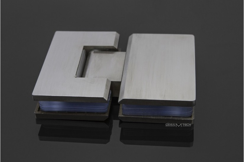 Петля G111A без фаски, стекло/стекло, 180°, Satin