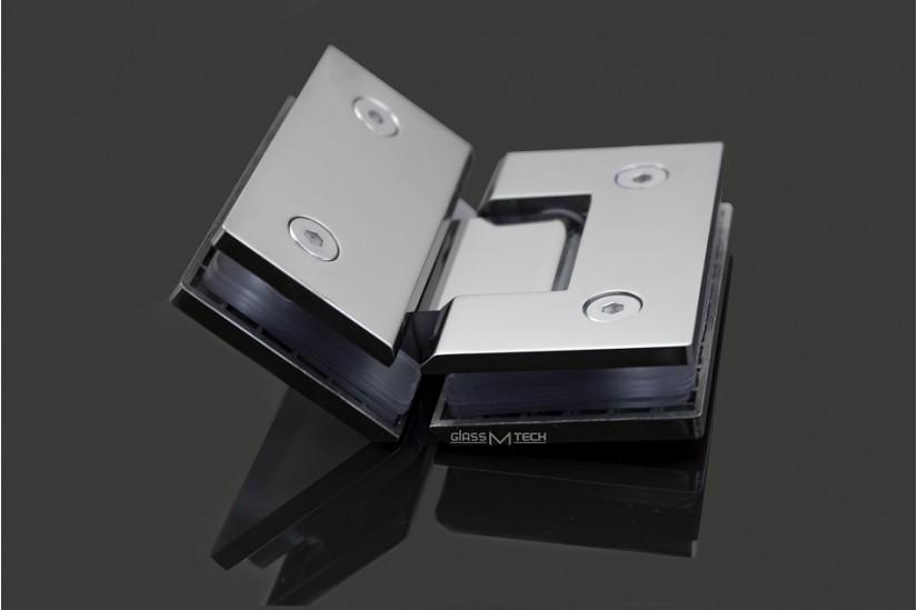 Петля G112А без фаски, стекло/стекло, 135°