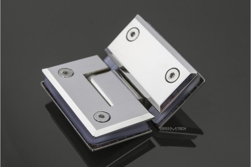 Петля G112А с фаской, стекло/стекло, 135°