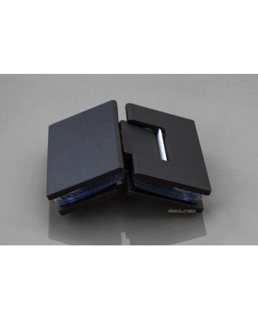 Петля G112A без фаски, стекло/стекло, 135°, Black